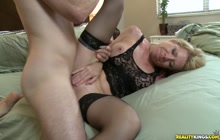 Desi gets pounded in a Spork position and Doggystyle