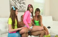 Alex Mae, Kimmy Granger and Payton Lee from CFNMSecret sharing a BBC